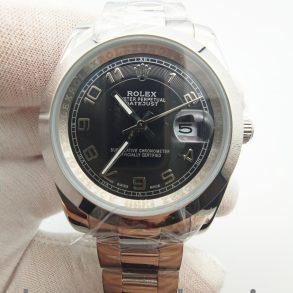 Rolex Datejust 116200 36-миллиметровые черные стальные автоматические часы