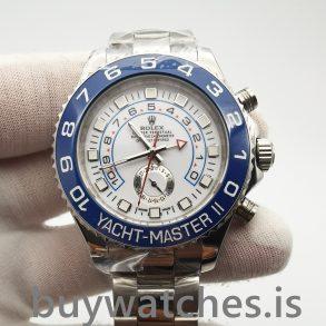 Rolex Yacht-master 116680 Мужские автоматические белые 44 мм стальные часы