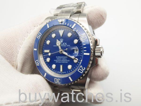 Rolex Submariner 116619 Автоматические мужские часы из белого золота 40 мм