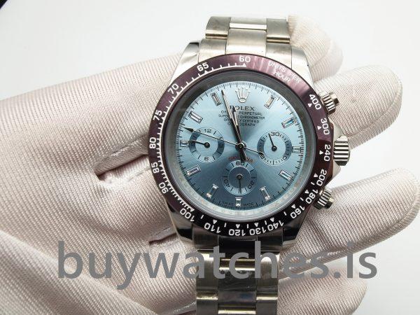 Rolex Daytona 116506 Голубые мужские автоматические часы из платины 950 пробы