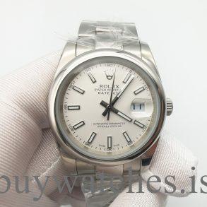 Rolex Datejust 126300 Мужские часы с серебряным циферблатом 41