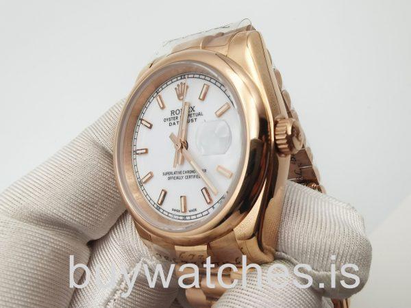Rolex Datejust 4467 Часы унисекс с автоподзаводом из розового золота 36 мм