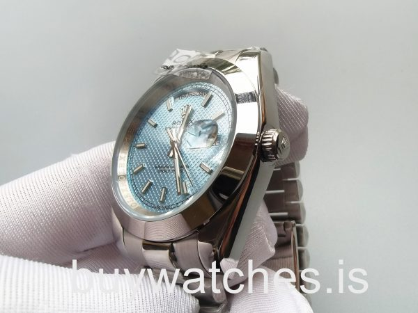 Rolex Day-Date 228206 Мужские синие автоматические стальные часы 40 мм