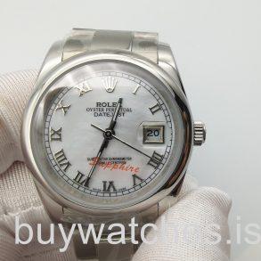 Rolex Datejust 16200 Серебряный циферблат, 36 мм, сталь, автоматические часы