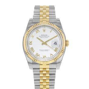 Rolex Datejust 116233 Женские белые стальные автоматические часы 36 мм