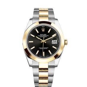 Rolex Datejust 126303 Часы Black 41mm Сталь с автоподзаводом