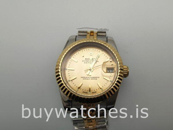 Rolex Datejust 179173 Женские золотые автоматические стальные часы 26 мм