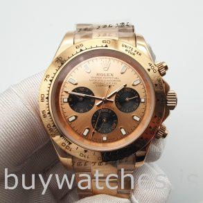 Rolex Daytona 116505 Золотые часы Oyster 40 мм с автоподзаводом EveroseRolex Daytona 116505 Золотые часы Oyster 40 мм с автоподзаводом Everose