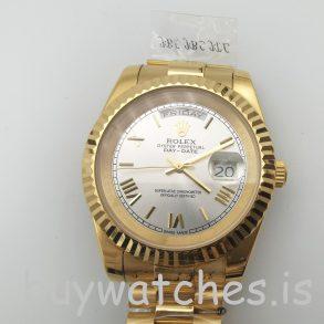 Rolex Day-Date II 218238 Автоматические мужские золотые часы 41 мм