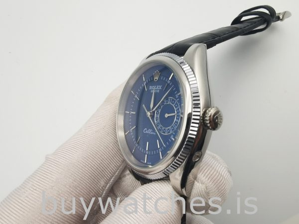 Rolex Cellini Date 50519 Мужские 39-миллиметровые синие автоматические часы