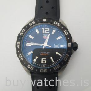 Quartz Tag Heuer Formula 1 41 мм резиновые черные мужские часы