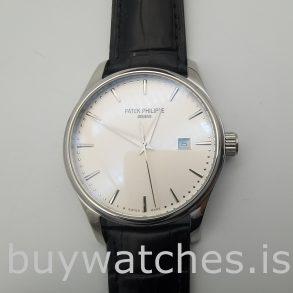 Patek Philippe 135362 Calatrava 5296G Мужские часы из белого золота 38 мм