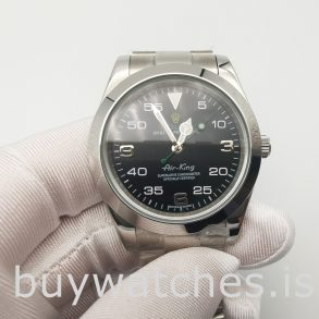 Rolex Air-king 116900 Мужские черные 40-миллиметровые автоматические часы
