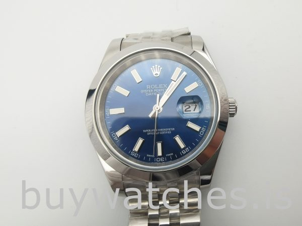 Rolex Datejust 126300 Мужские синие автоматические часы 41 мм