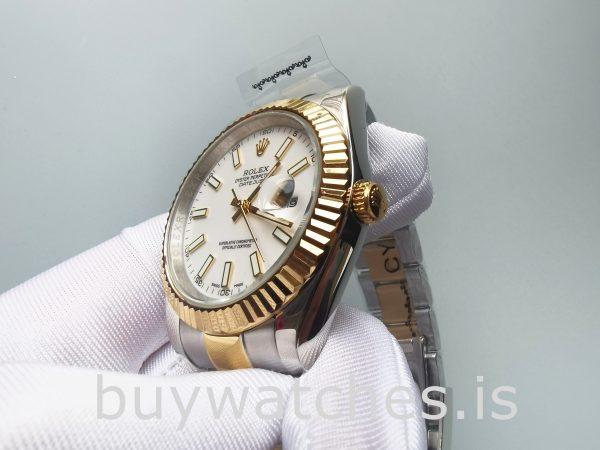 Rolex Datejust Oyster White Stk Asian 2813 Мужские белые автоматические часы
