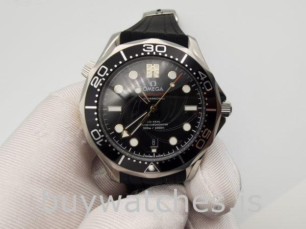 Omega 210.22.42.20.01.004 Seamaster Черные часы с автоподзаводом 42 мм