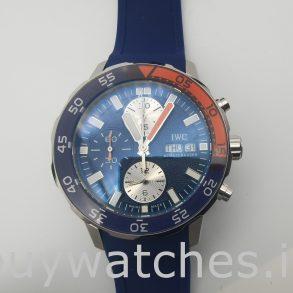 IWC Aquatimer IW376704 Круглые автоматические часы с синей резиной, 44 мм