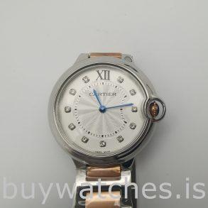 Cartier We902031 Ballon Bleu 36 мм серебряные автоматические часы
