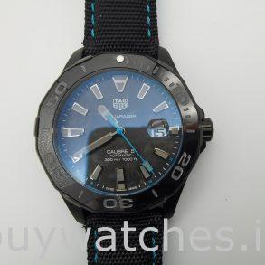 TAG Heuer Aquaracer WBD218C.FC6447 Черные нейлоновые автоматические часы 41 мм