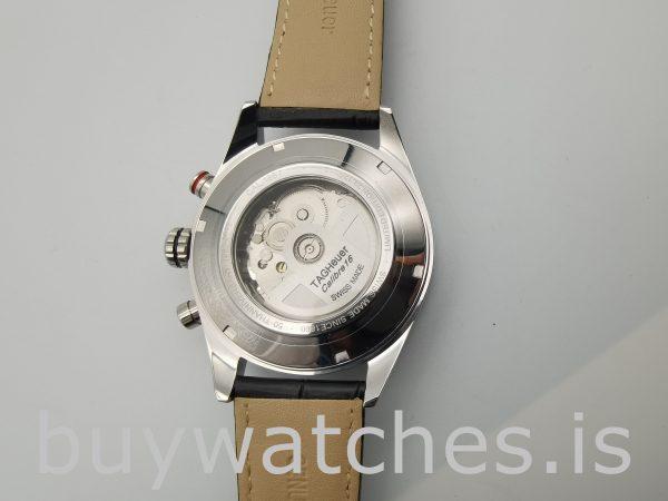 TAG Heuer Carrera CV2A1R.FC6235 Круглые мужские черные часы 43 мм