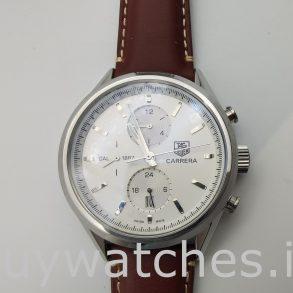 Tag Heuer Carrera Car2111.Fc6291 Кожаные мужские автоматические часы 41 мм