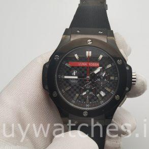 Hublot Big Bang 301.CM.131.RX.LUN06 Резиновые часы 44 мм черные