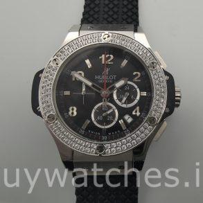 Hublot Big Bang 301.SX.130.RX.114 Черные резиновые автоматические часы 44 мм