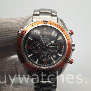 Omega Seamaster Planet Ocean 2218.50.00 Мужские часы с черным циферблатом