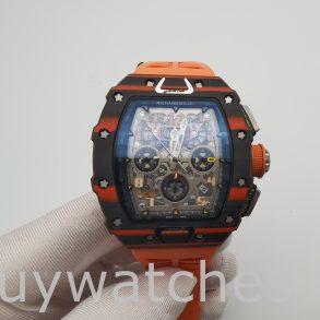 Richard Mille RM11-03 Часы унисекс 44 мм с карбоновым корпусом и резиновым покрытием