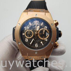 Hublot Big Bang 411.OX.1180.RX Черные часы с полым корпусом 45 мм