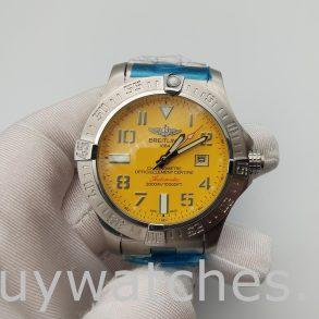 Breitling Avenger Seawolf A17331101 I1A1 Желтые мужские часы 45 мм