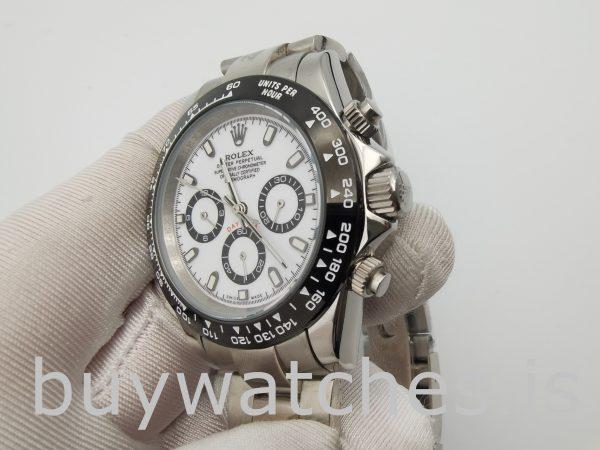 Rolex Daytona 116500 Мужские часы с белым циферблатом 40 мм