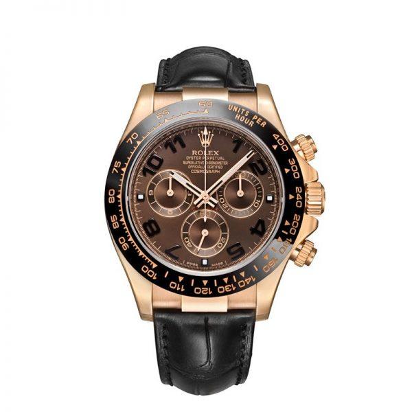 Rolex Daytona 116515 Часы с кожаным циферблатом 40 мм с шоколадным циферблатом
