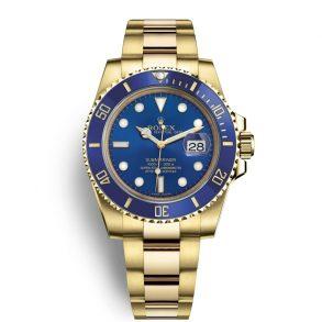 Rolex Submariner 116618LB Мужские часы с синим циферблатом 40 мм