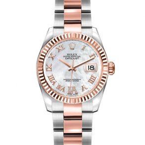 Rolex Datejust 179171 Часы Lady Grey 26 мм из стали и розового золота
