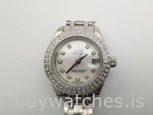 Rolex Datejust 81339 Женские часы 31 Jewels с белым циферблатом 34 мм