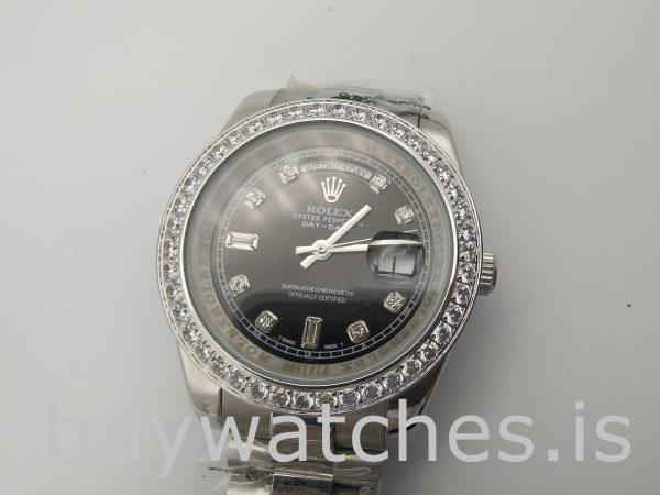 Rolex Day-Date 228349RBR Мужские часы с черным циферблатом 40 мм
