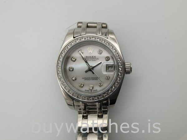 Rolex Datejust 80299 Женские часы 29 мм с циферблатом из белого золота