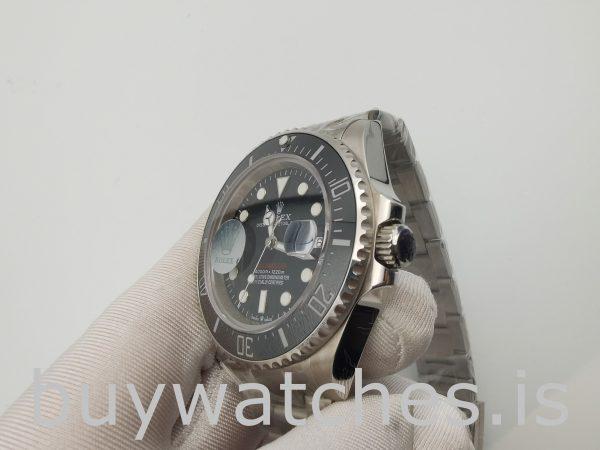 Rolex Sea-Dweller 126600 Черные стальные круглые часы диаметром 43 мм