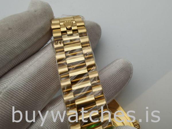 Rolex Day-Date II 218238 Мужские часы с серебряным циферблатом 41 мм