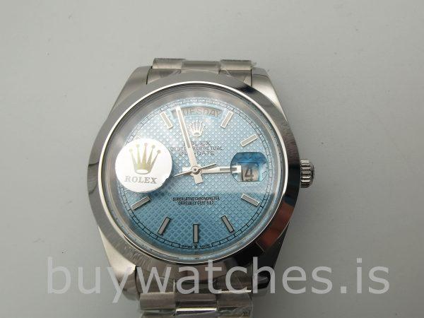 Rolex Day-Date Часы Blue Stk Smth Men 40mm 3255