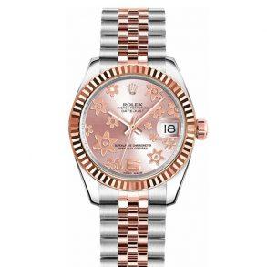 Rolex Datejust 178271 Часы унисекс с розовым цветочным циферблатом 31 мм