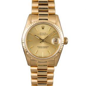 Rolex Datejust 68278 Женские часы 31 мм с циферблатом шампанского