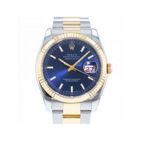 Rolex Datejust 116233 Мужские часы с синим циферблатом 36 мм