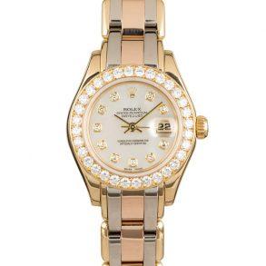 Rolex Datejust 80299 Женские золотые часы с белым циферблатом 29 мм