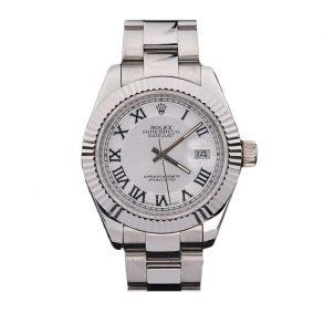 Rolex Datejust 4770 Часы White Men с римскими цифрами 41 мм