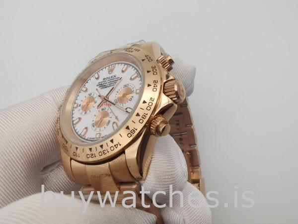 Rolex Daytona 116505 Мужские часы с циферблатом из розового золота 40 мм