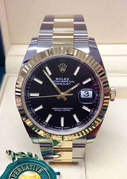 Rolex Datejust 126333 Мужские часы 41 мм из желтого золота 18 карат