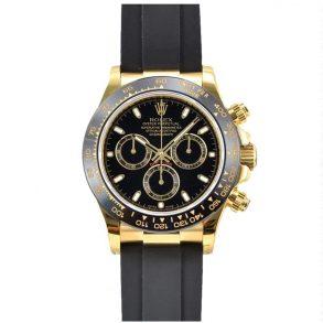 Rolex Cosmograph Daytona Мужские часы с черным циферблатом 40 мм