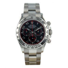 Rolex Daytona 116509 Часы с сапфировым стеклом 40 мм с черным циферблатом